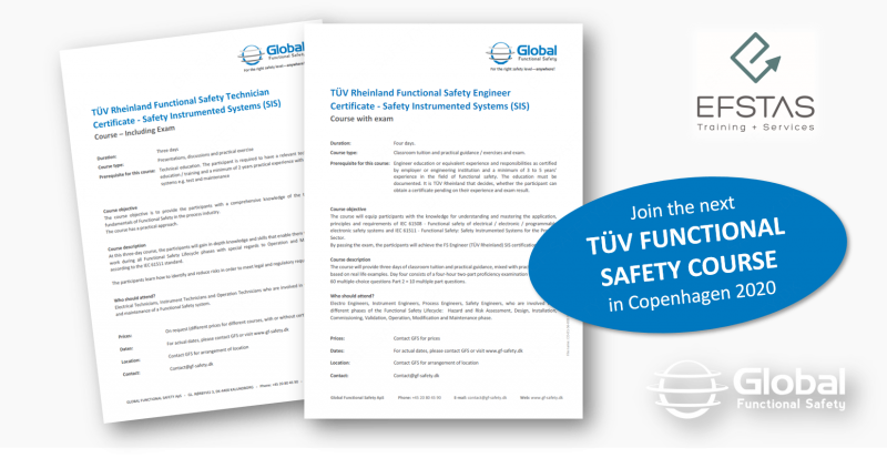 TÜV Rheinland Functional Safety Engineer Certificate – Safety Instrumented Systems (SIS)